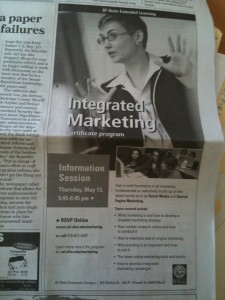 Integrated Marketing Program Ad