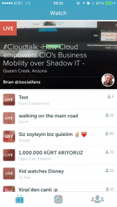 Periscope stream of videos
