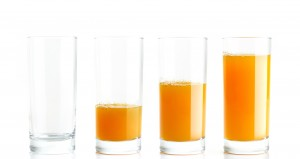 External Linking will help you grow your business. Glass of juice making a chart.